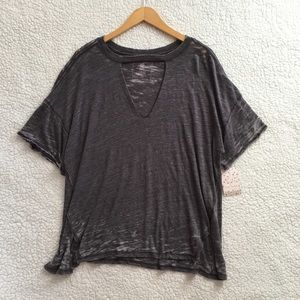 NWT Free People We the Free Jordan cut out tee